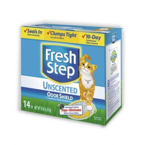 FRESH STEP Unscented odor shield комкующийся
